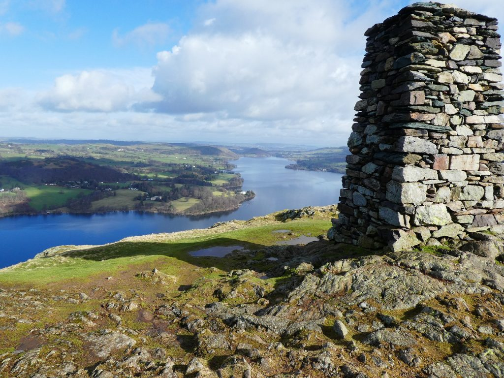Looking down on Ullswater, Lake District