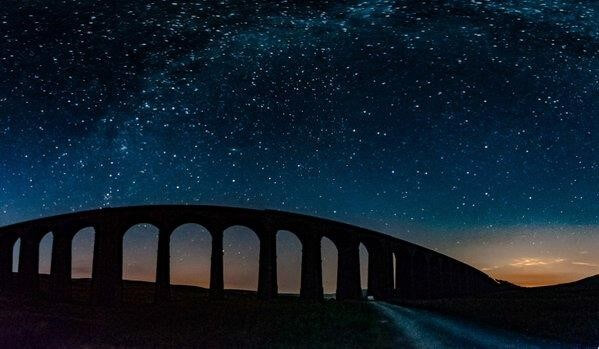 Night Sky over Ribble Viaduct