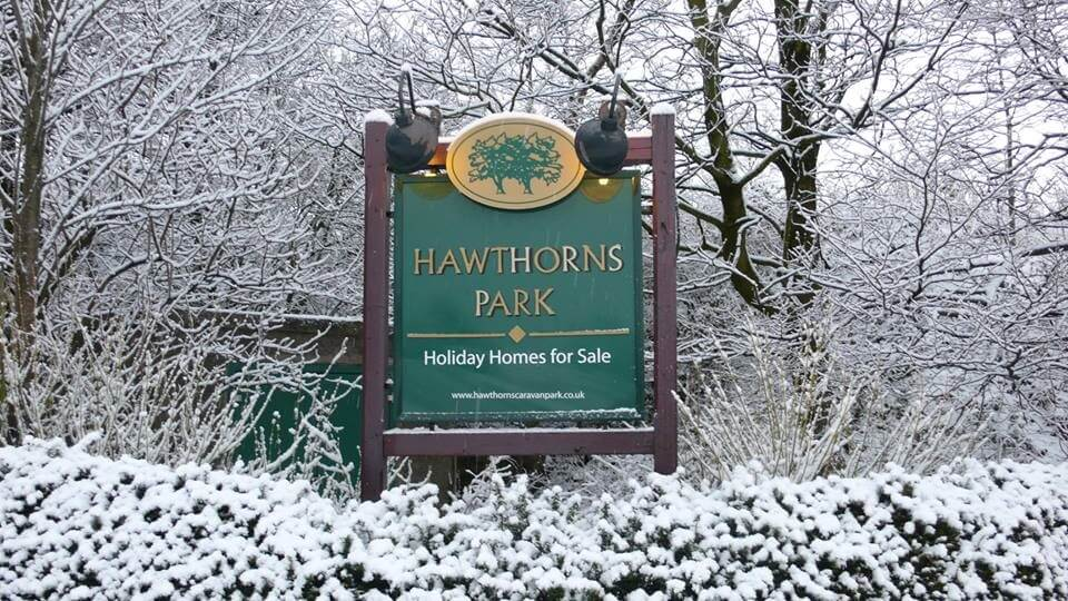 Hawthorns Park in the snow