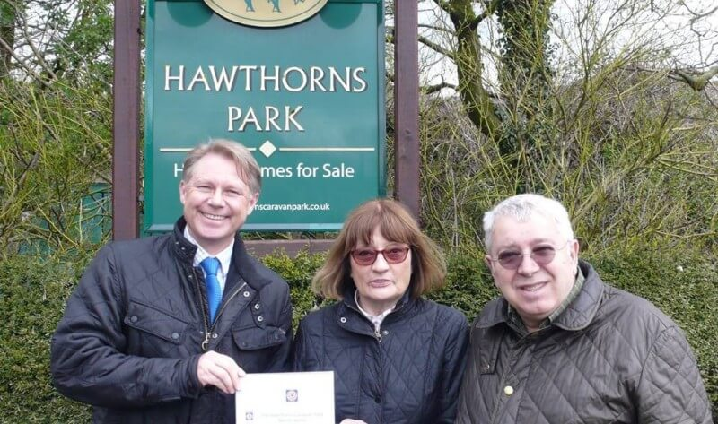 Five Star Visit England award at Hawthorns Park