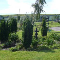 Landscape gardens at The Glade - Luxury Static Caravan Development at Hawthorns Park