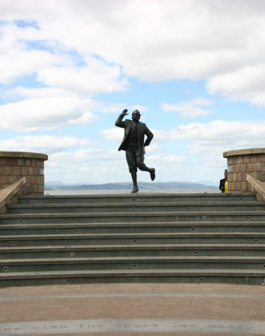 Visiting Eric Morecambe Statue