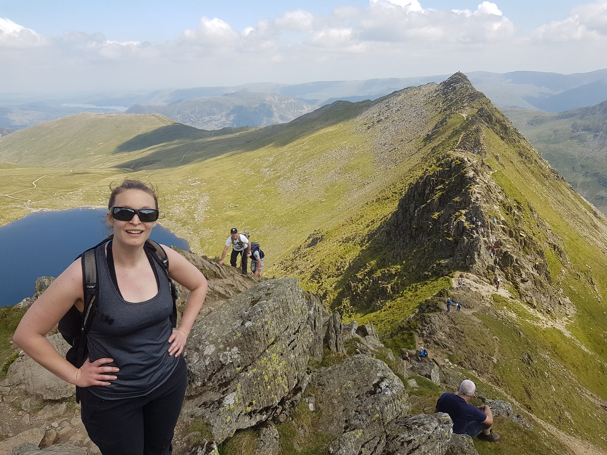wellbeing in the Lake District - the top of helvellyn