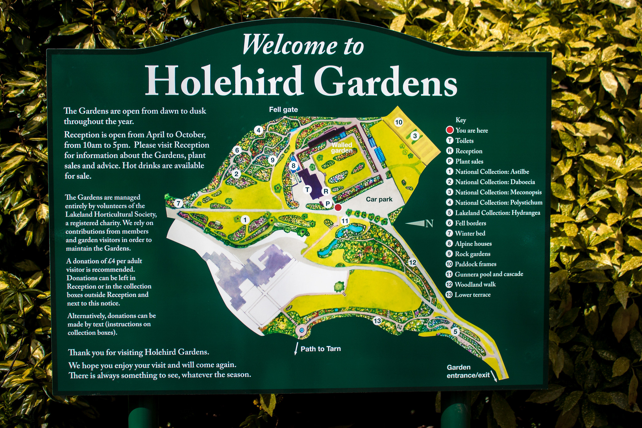 welcome to Holehird Gardens Lake District