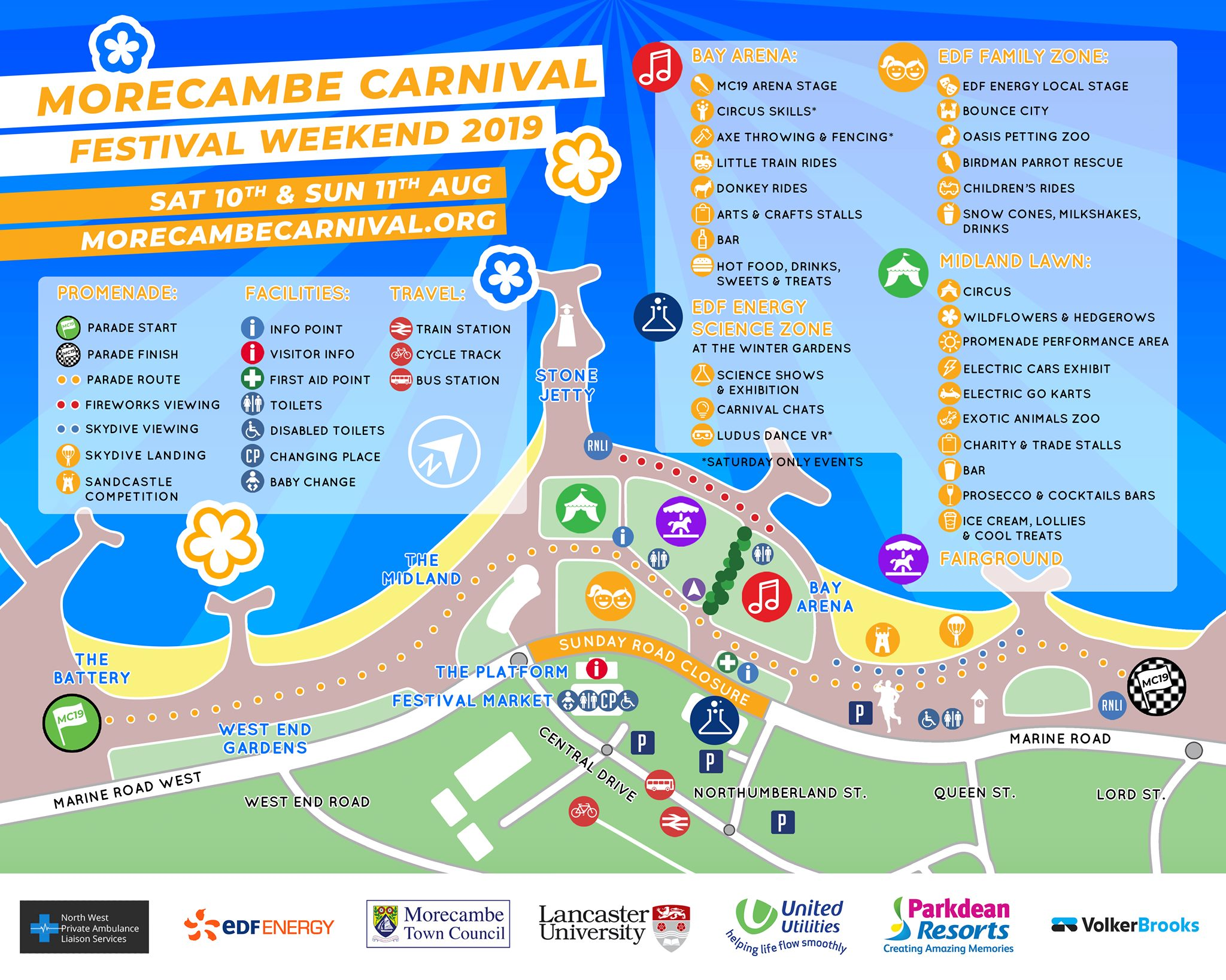 Morecambe Carnival map and information 2019