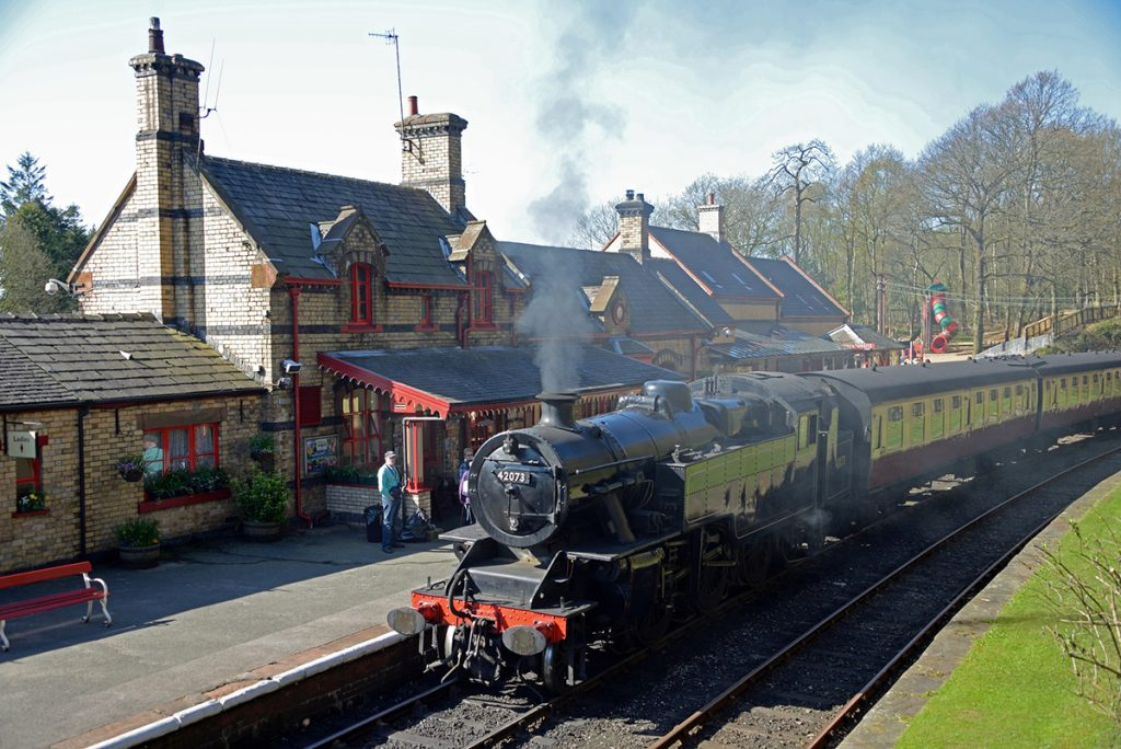 Take a steam ride at Lakeside & Haverthwaite Railway.