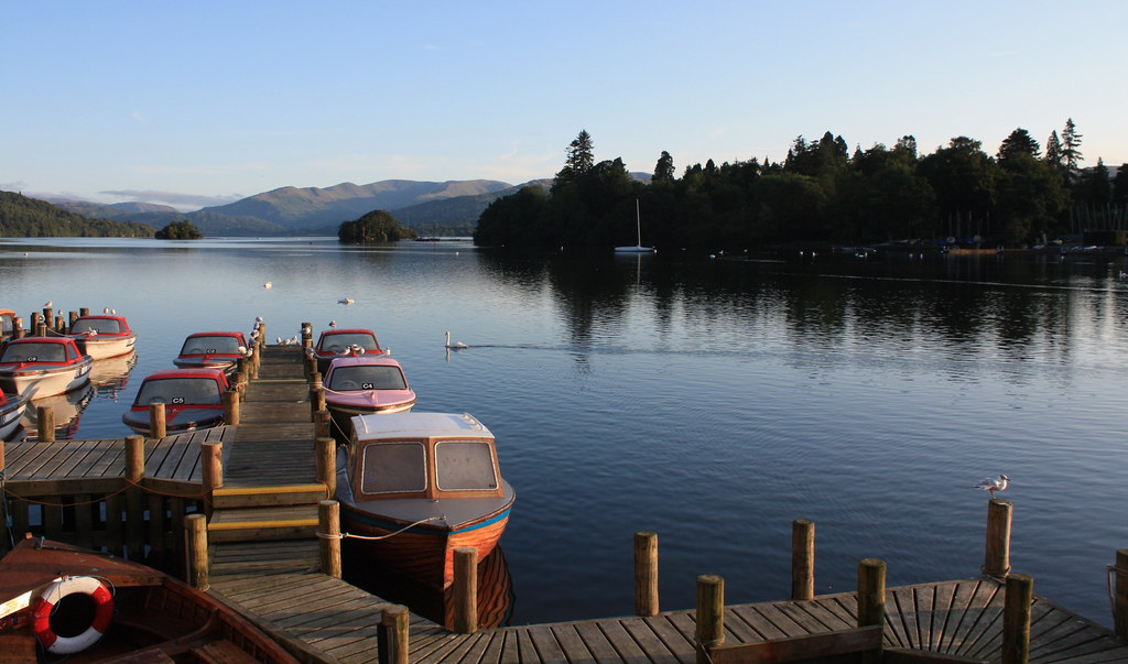 romantic view at Bowness on Windermere Lake District