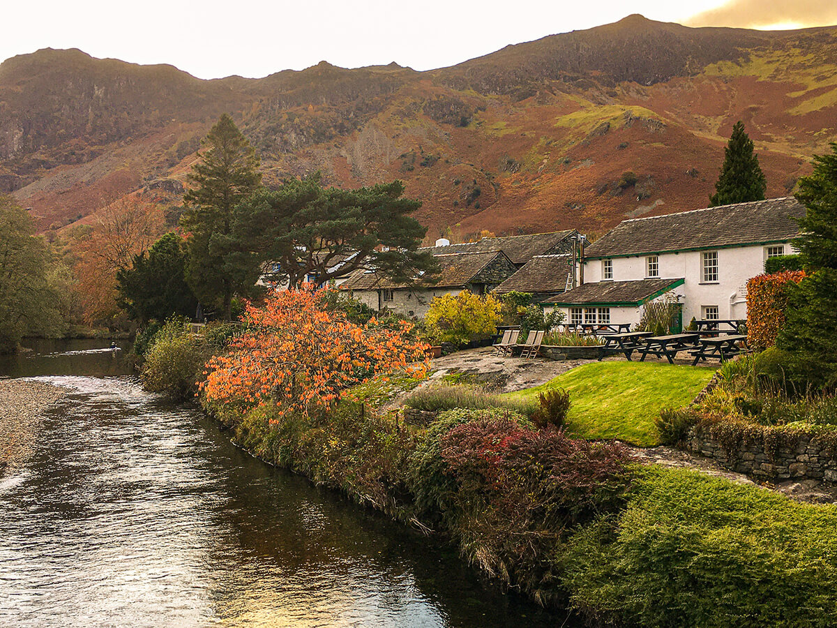 Lake District pub in autumn