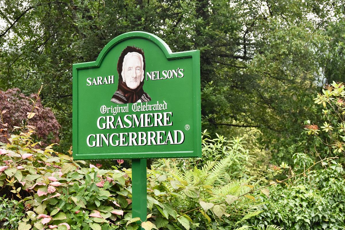 grasmere gingerbread sign